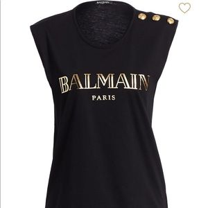Authentic Balmain Logo Tank Top